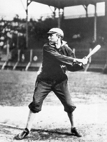 Tyrus Cobb Bats In Detroit Tigers Uniform