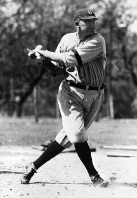 Ty Cobb Takes A Terrific Swing