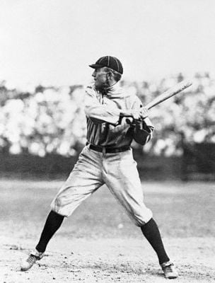 Ty Cobb At Bat In Detroit Tigers Uniform
