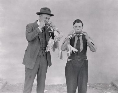 Ty Cobb And Buster Keaton