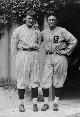 Ty Cobb And Walter Johnson