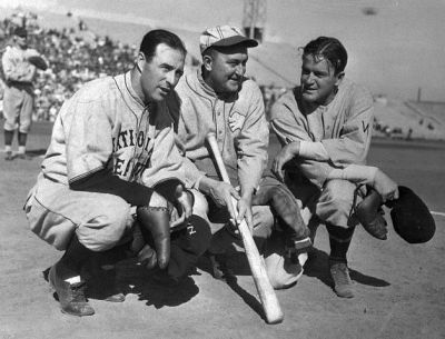 Ty Cobb And A Couple Of Baseball Pros
