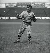 Ty Cobb Poses In The Outfield In Tigers Uniform