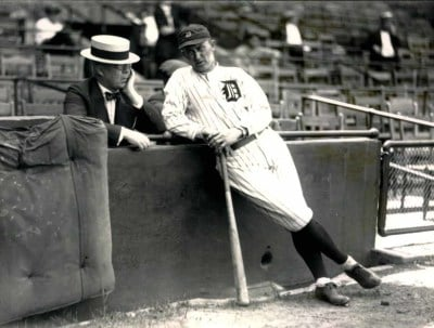 Ty Cobb And Detroit Tigers Owner Frank Navin