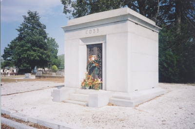 Ty Cobb Mausoleum In Rose Hill Cemetery